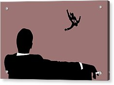 Mad Men Falling Acrylic Print by Dan Sproul