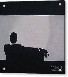 Mad Men In Silhouette Acrylic Print by John Lyes