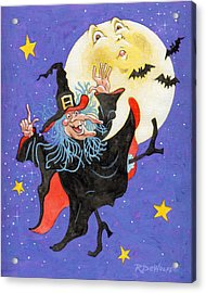 Mad Millie Moon Dance Acrylic Print by Richard De Wolfe