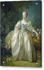 Madame Bergeret, C. 1766 Oil On Canvas Acrylic Print