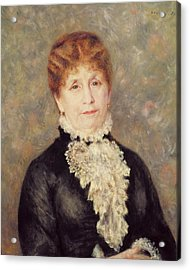 Madame Eugene Fould Acrylic Print by Pierre Auguste Renoir