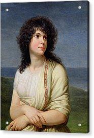 Madame Hamelin 1776-1851 Oil On Canvas Acrylic Print