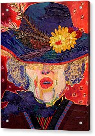 Madame Hatter Acrylic Print by Diane Fine