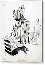 Madame Marcel Rochas Acrylic Print