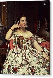 Madame Moitessier, 1856 Oil On Canvas Acrylic Print