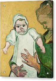 Madame Roulin And Her Baby Acrylic Print by Vincent Van Gogh