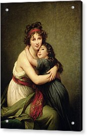 Madame Vigee-lebrun And Her Daughter, Jeanne-lucie-louise 1780-1819 1789 Oil On Canvas Acrylic Print by Elisabeth Louise Vigee-Lebrun