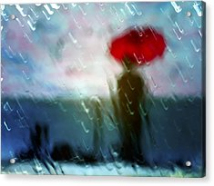 Madame With Umbrella Acrylic Print by Alfio Finocchiaro