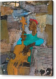 Acrylic Print featuring the mixed media Madcap Bass by Catherine Redmayne