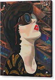 Maddiev Acrylic Print by Miriam Tiritilli