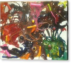 Maddness Acrylic Print by April  Weller