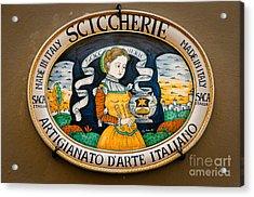 Made In Italy Artisans Acrylic Print by Emilio Lovisa