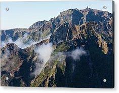 Madeira Central Highland Acrylic Print by Dr Juerg Alean