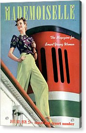 Mademoiselle Cover Featuring A Model Aboard Acrylic Print by Paul D'Ome