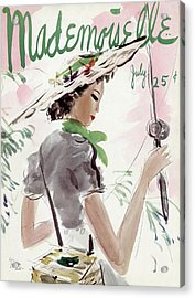 Mademoiselle Cover Featuring A Woman Holding Acrylic Print