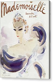 Mademoiselle Cover Featuring A Woman In A Gown Acrylic Print