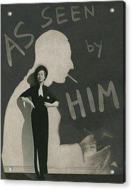 Mademoiselle Koopman Wearing A John Mcmullin Acrylic Print by George Hoyningen-Huene