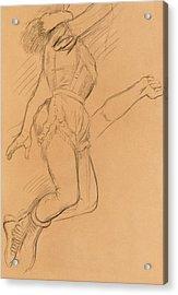 Mademoiselle La La At The Circus Fernando Acrylic Print by Edgar Degas