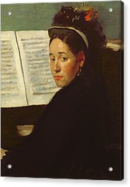 Mademoiselle Marie Dihau At The Piano Acrylic Print by Edgar Degas