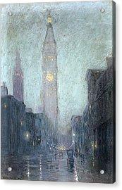 Madison Avenue At Twilight Acrylic Print