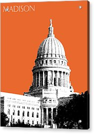 Madison Capital Building - Coral Acrylic Print by DB Artist