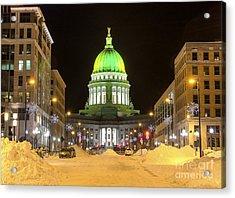 Madison Capitol Acrylic Print by Steven Ralser