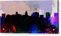 Madison City Skyline Acrylic Print by Naxart Studio