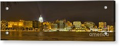 Madison - Wisconsin City  Panorama - No Fireworks Acrylic Print