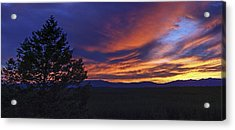 Madison River Sunset Acrylic Print