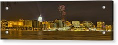 Madison Skyline New Years Eve Acrylic Print
