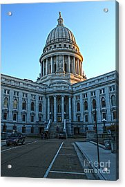 Madison Wisconsin Capitol Building - 01 Acrylic Print by Gregory Dyer