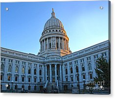 Madison Wisconsin Capitol Building - 02 Acrylic Print by Gregory Dyer