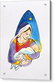 Madonna And Child Acrylic Print by Diane Matthes