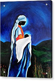 Madonna And Child - Beloved Son, 2008 Acrylic Print