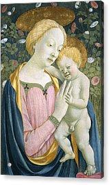 Madonna And Child Acrylic Print by Domenico Veneziano