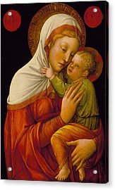 Madonna And Child Acrylic Print by Jacob Bellini