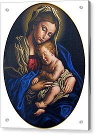 Madonna And Child Acrylic Print by Jane Whiting Chrzanoska