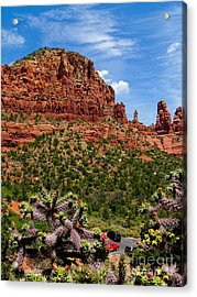 Madonna And Child Two Nuns Rock Formations Sedona Arizona Acrylic Print by Amy Cicconi