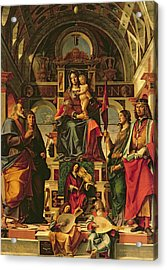 Madonna And Child With Saints Acrylic Print