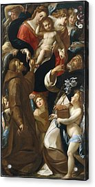 Madonna And Child With Saints Francis Acrylic Print