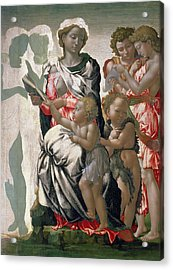 Madonna And Child With St John Acrylic Print