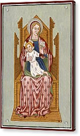 Madonna Col Bambino In Trono - Mother Of God On The Throne. Acrylic Print by Raffaella Lunelli