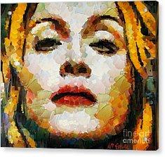 Madonna Acrylic Print by Dragica  Micki Fortuna