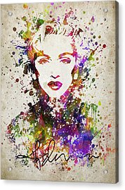 Madonna In Color Acrylic Print by Aged Pixel