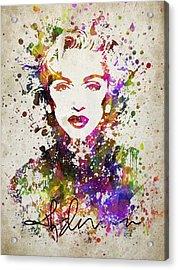 Madonna In Color Acrylic Print