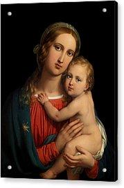 Acrylic Print featuring the digital art Madonna by Johann Ender