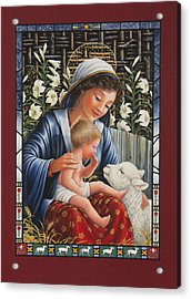 Madonna Of The Lilies Acrylic Print by Lynn Bywaters