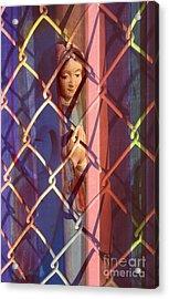 Madonna Photograph - The Virgin Acrylic Print by Sharon Hudson