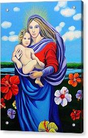 Madonna Rafaelina Acrylic Print by Kyra Belan