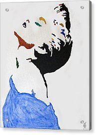 Madonna True Blue Acrylic Print by Stormm Bradshaw